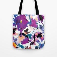 Sara Floral Blue Tote Bag