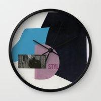 smoking Wall Clocks featuring smoking by Andrei Cojocaru
