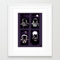 howl Framed Art Prints featuring Howl by Zombie Rust