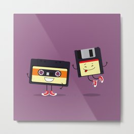 Floppy disk and cassette tape Metal Print