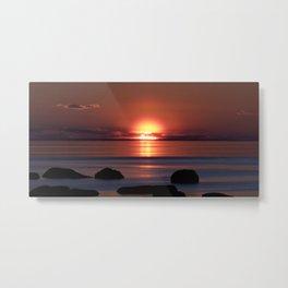 Shock-wave Sunset Metal Print