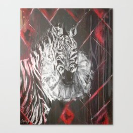 Sad Zebra Canvas Print
