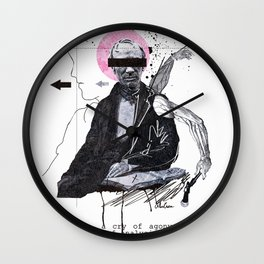 Mighty Poets in Their Misery Dead Wall Clock
