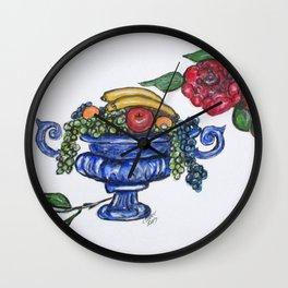 Classic Fruit Bowl Wall Clock