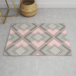 Floor Like Diamond Geometric Design Rug