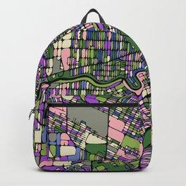 Winnipeg Map — pink Backpack