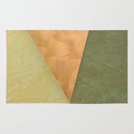 Golden Triangle With Green and Cream Rug