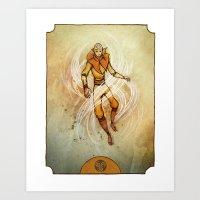 aang Art Prints featuring Air by Madalyn McLeod