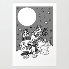 They Only Come Out At Night Art Print