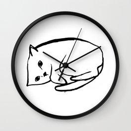 sad cat study Wall Clock