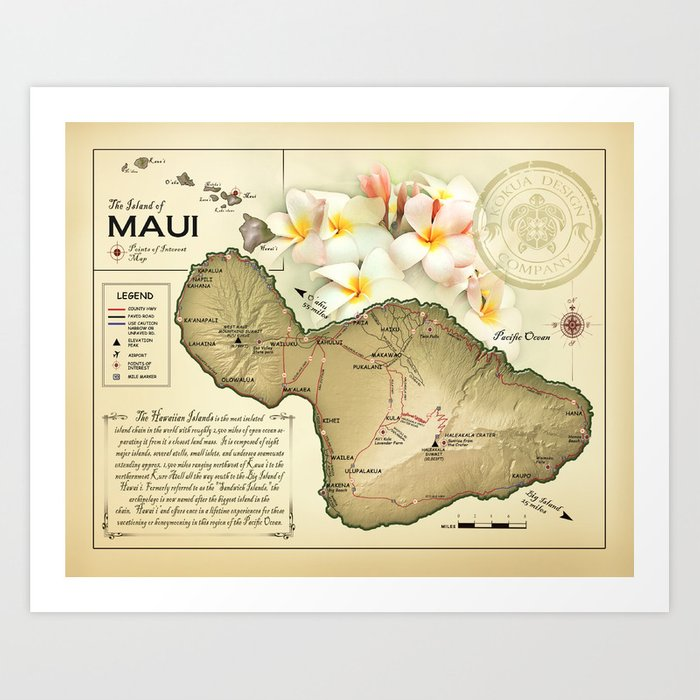 graphic regarding Maui Map Printable referred to as The Island of Maui \