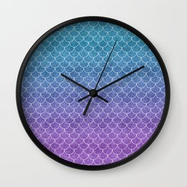 Mermaid Scales in Cotton Candy Wall Clock