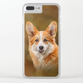 Drawing Dog breed Welsh Corgi Clear iPhone Case