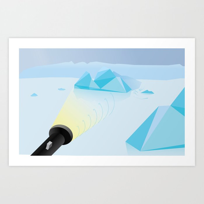 """How To Clock a Glacier"" by Francesco Izzo for Nautilus Art Print"