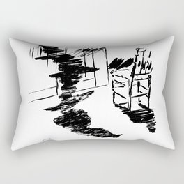 Edouard Manet - The raven by Poe 4 Rectangular Pillow