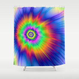 Tie Dye Fireball Shower Curtain