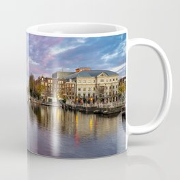 Sunset at the Amstel in Amsterdam  Coffee Mug