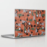 mid century Laptop & iPad Skins featuring Mid Century Atomic Arrow Patterns by Cherie