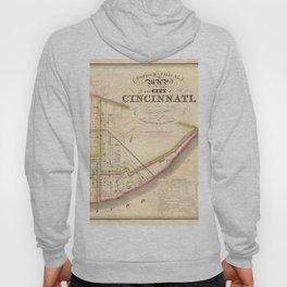 Cincinnati old map Hoody