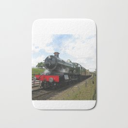 Vintage steam engine railway train Bath Mat