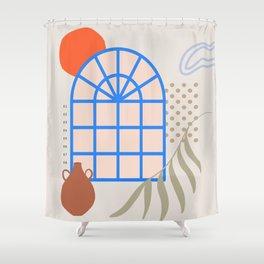 modern scene Shower Curtain