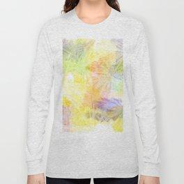 Watercolour Leaves Texture Long Sleeve T-shirt