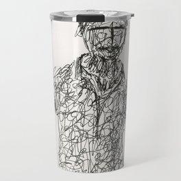Tribute to Amadeo Modigliani by Tade Garben Travel Mug