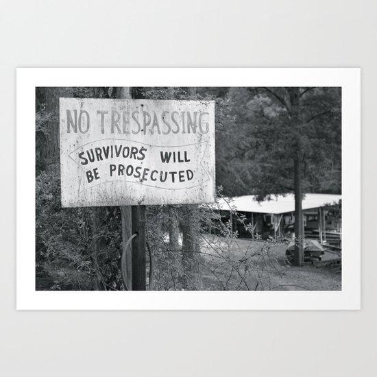 Prosecuted  Art Print