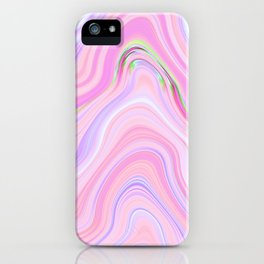 Pastel Pink & Violet Lava Marble iPhone Case