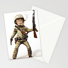 Cartoon Soldier Stationery Cards