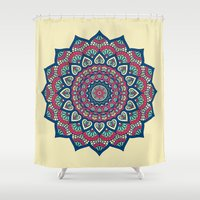 islam Shower Curtains featuring Mandala by Mantra Mandala