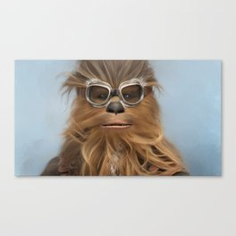 Goggle Wookie Canvas Print