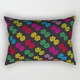 colorful barbells pattern Rectangular Pillow
