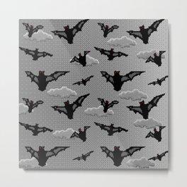 pixel bats Metal Print