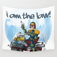 law Wall Tapestries featuring I am the LAW by neicosta