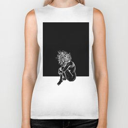 Blossom in the Void Biker Tank