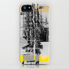 Sunday Morning - b/w graphic iPhone Case