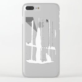Midnight Call Clear iPhone Case