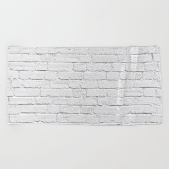 White Brick Wall Beach Towel