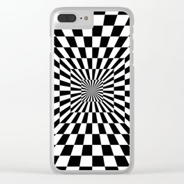 Optical Illusion Hallway Clear iPhone Case