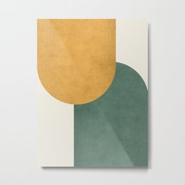 Halfmoon Colorblock 2 - Gold Green  Metal Print