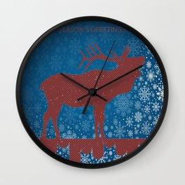 SEASONAL GREETINGS ARTWORK Wall Clock