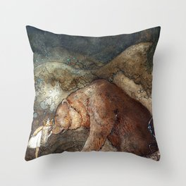 Among gnomes and trolls Throw Pillow