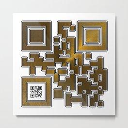Respect Is Golden QR Code Metal Print