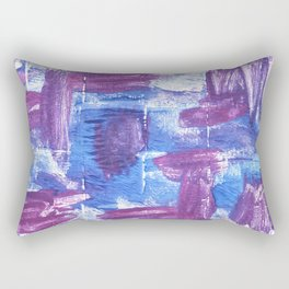 Royal purple abstract watercolor Rectangular Pillow
