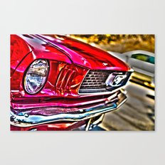 Mustang on Hollywood Hills Canvas Print