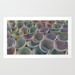 Colorful spiraled coils Art Print