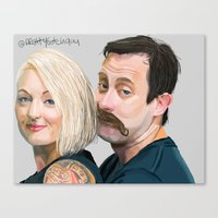roosterteeth Canvas Prints featuring Geoff and Griffon Ramsey by CharlotteJR