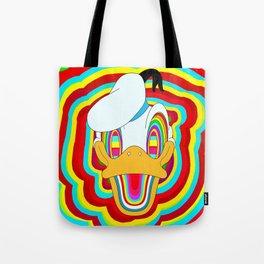 Rainbow cute Dizzy Donald Tote Bag
