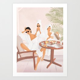 Weekend morning with friends Art Print